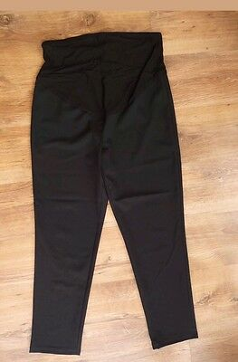 BNWT GEORGE Thin Black Maternity Trousers Straight Leg Size 14