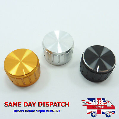 Aluminum Potentiometer Amplifier Knob 26x17 Volume Control 6mm Dia Knurled Cap