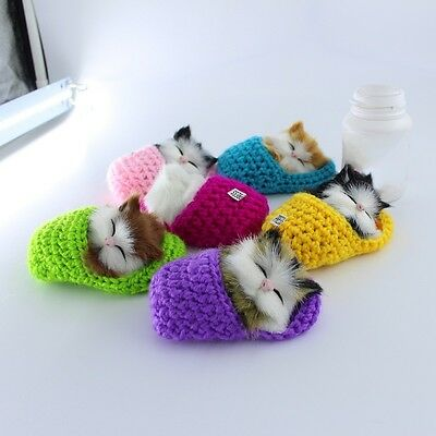 Cat Sound Toy Simulation Lovely Kittens Plush Toy Kid Appease Doll Birthday Gift