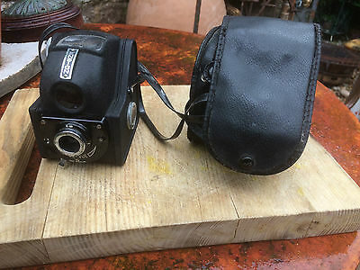 Vintage Ensign Ful Vue Box Camera With Original  Case Collectable