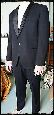 Mens Dinner Suit  Keith Courtenay Black Pure Wool Size Mens? Excellent Condition