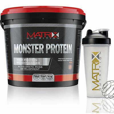 4kg MONSTER PROTEIN ANABOLIC WEIGHT GAINER LEAN MUSCLE MASS - ALL FLAVOURS