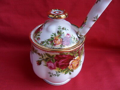 Royal Albert, Old Country Roses (OCR) Preserve Pot & Spoon