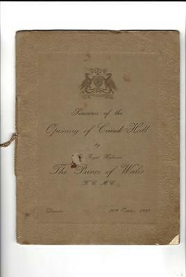 UK Vintage Souvenir Booklet OPENING OF CAIRD HALL, 1923 Prince Of Wales
