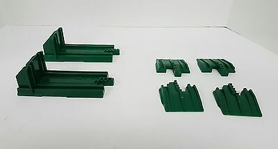 Lot of 6 Fisher Price Geotrax Track End Pieces Track Rail End & Bumpers