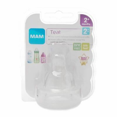 MAM Teat 2 Medium Flow  1 2 3 6 12 Packs