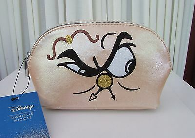 Danielle Nicole Disney Cogsworth Beauty & the Beast Makeup Cosmetic Clutch NWT