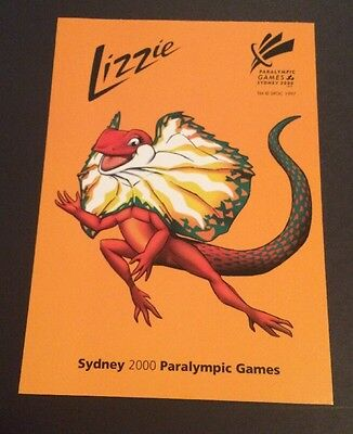 Sydney 2000 Paralympic  Post Card Lizzie