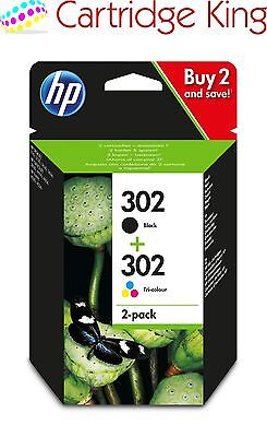 Genuine HP 302 2-Pack Black/Tri-colour Original Ink Combo Pack X4D37AE for Offic