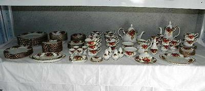 1st Quality Vintage 112pc Royal Albert Old Country Roses Dinner Tea & Coffee SET