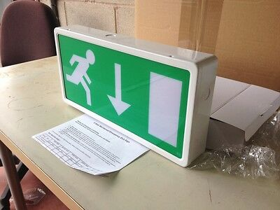 8w Maintained Exit Box Emergency Light c/w arrow DOWN (Box of 6) Tubed