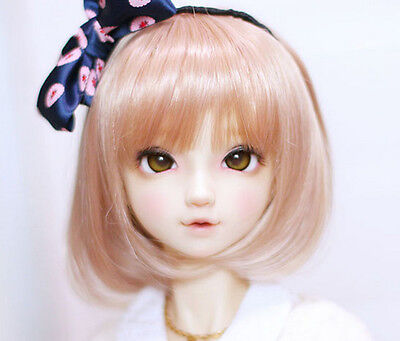 """1//8 Girl BJD SD Doll Wig Dollfie 5/"""" DZ DOD LUTS Double Tail Tiger Clip GCH003"""