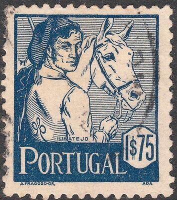 Portugal 1941 1e.75 Blue Costume FU