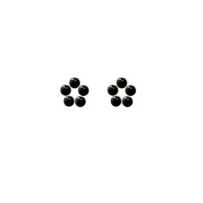 4x4mm 10pc AAA Quality Rose Cut  Faceted Cabochon Black Spinal Loose Gems