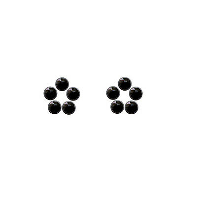 5x5mm 10pc AAA Quality Rose Cut  Faceted Cabochon Black Spinal Loose Gems