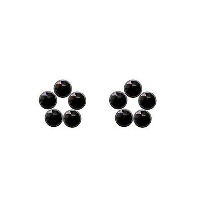 6x6mm 10pc AAA Quality Rose Cut  Faceted Cabochon Black Spinal Loose Gems