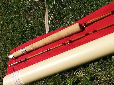 CANNE Pêche MOUCHE bambou refendu truite fly rod fishing bamboo cane trout pezon