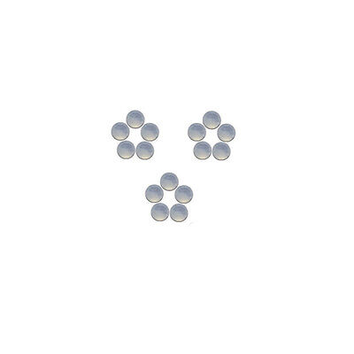 4x4mm 15pc AAA Quality Rose Cut Faceted Cabochon Chalcedony Loose Gems
