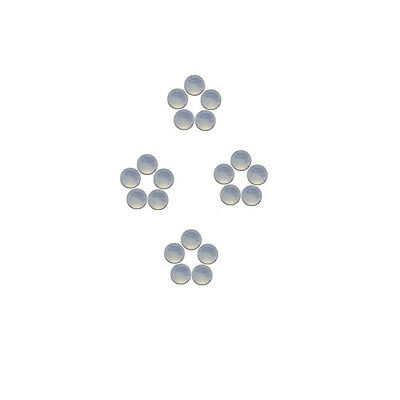 4x4mm 20pc AAA Quality Rose Cut Faceted Cabochon Chalcedony Loose Gems