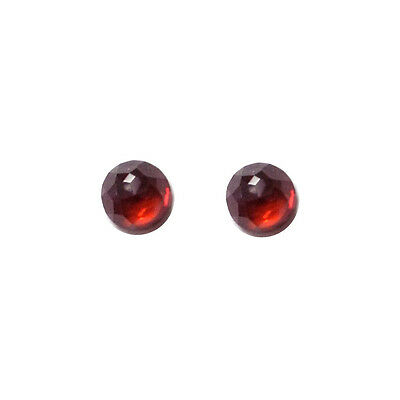6x6mm 1pair AAA Quality Rose Cut Faceted Cabochon Red Garnet Loose Gems