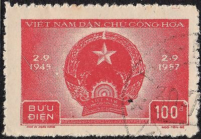Vietnam (North) 1957 100d 12th Anniversary of Democratic Republic VFU