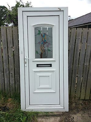 Upvc front door and frame white picclick uk for Upvc front door 78 x 30