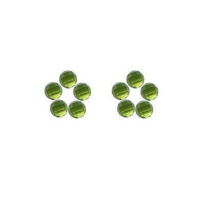 6x6mm 10pc AAA Quality Rose Cut Faceted Cabochon Natural Peridot Loose Gems