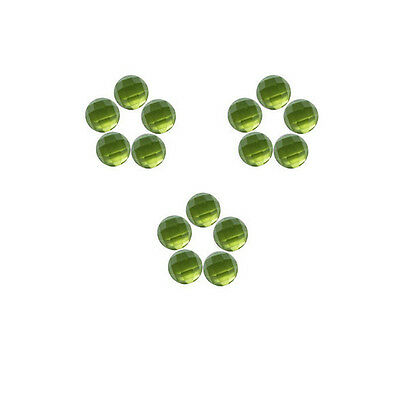 6x6mm 15pc AAA Quality Rose Cut Faceted Cabochon Natural Peridot Loose Gems