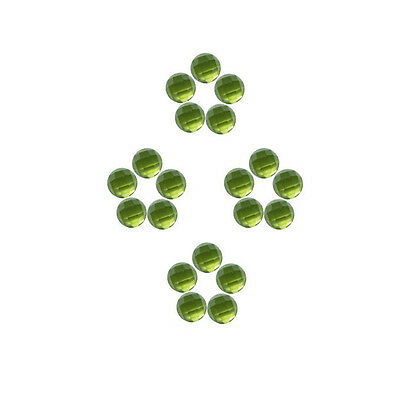 5x5mm 20pc AAA Quality Rose Cut Faceted Cabochon Natural Peridot Loose Gems