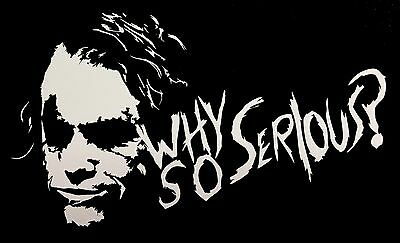 Why so serious Joker car van window sticker JDM DRIFT VW FORD STANCE Vinyl decal
