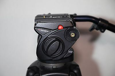 Manfrotto 501HDV head with Manfrotto 525MVB legs and bag
