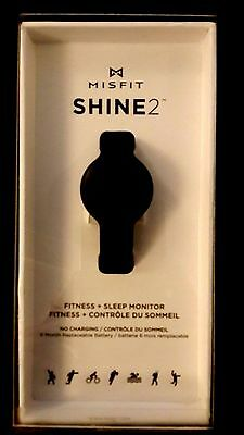 MISFIT SHINE 2 Fitness sleep monitor NERO NUOVO CON SCATOLA 50m Impermeabile