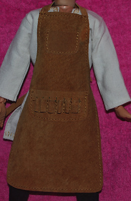 """Custom Blacksmith Apron for 1/6 scale 12"""" Action Figure.Medieval Knight Ignite"""