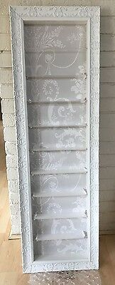 10 Tier Nail Polish  Wall Mounted Display in WHITE/GREY (point of sale)