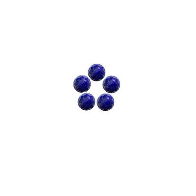 6x6mm 5pc AAA Quality Rose Cut Faceted Cabochon Lapis Lazuli Loose Gems