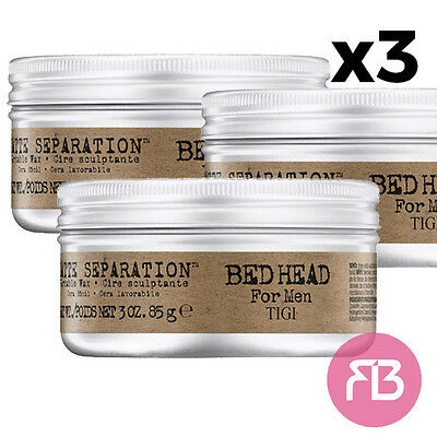 Tigi bed head for men matte separation workable wax 85 gr cera per capelli X3