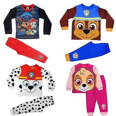 Boys Girls Paw Patrol Pyjamas PJ's Sublimation Design Ages 18 Months to 5 Years