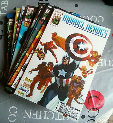 PANINI COMICS LOT SERIE COMPLETE - MARVEL HEROES 1 A 17 comme neufs