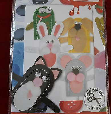 CREATE AND CRAFT KIDS - Create Your Own Felt Finger Puppets - x5