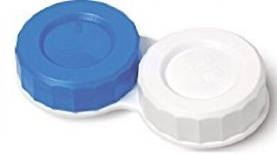 Boots Blue and White Contact Lens Soaking Storage Case.