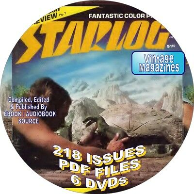 STARLOG MAGAZINE - 218 ISSUES - VINTAGE - PDF FILES - 6 DVDs - SCIENCE FICTION