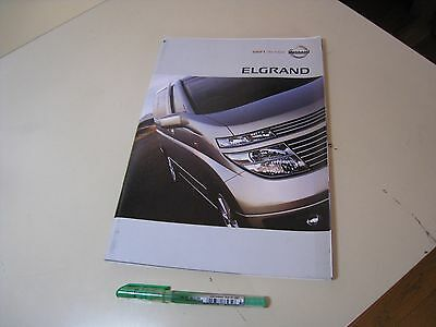 Nissan ELGRAND HIghway STAR Rider Japanese Brochure 2003/10  E51 VQ35DE