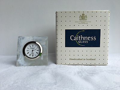Caithness Glass Carnival Clock with Original Box - White (948)