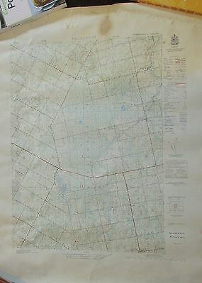 ONTARIO WALKERTON 1951-2 Topographical Map Glammis + Kinloss + Riversdale