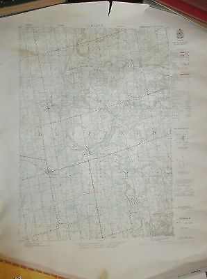 ONTARIO DUNDALK 1950 Topographical Map Hornings Mills + Whitfield + Honeywood +
