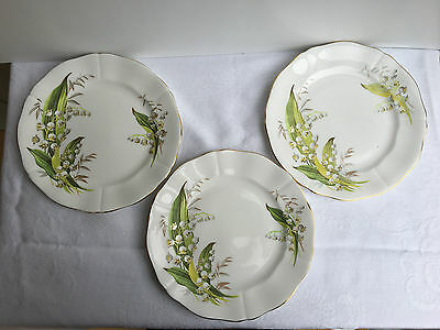 5  Adderley 'Lily of the Valley' 7 7/8 inch Salad Plates (670)