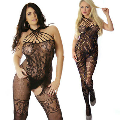 Fishnet Bodystocking Lingerie Catsuit Tights Bridal Bedroom Lot Fun Bodysuit
