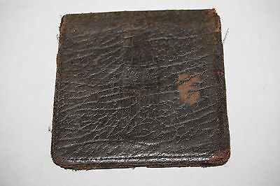 Vintage Coca Cola Advertising Leather Wallet authentic antique Billfold