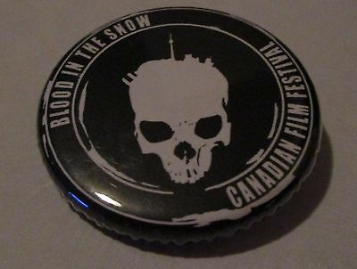 Blood In The Snow Canadian Film Festival Pin Badge Button Canada Horror Black