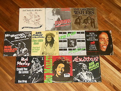 "Bob Marley - SAMMLUNG - 10 Singles (7"") - Jamming - Exodus - One Love - Stir It"